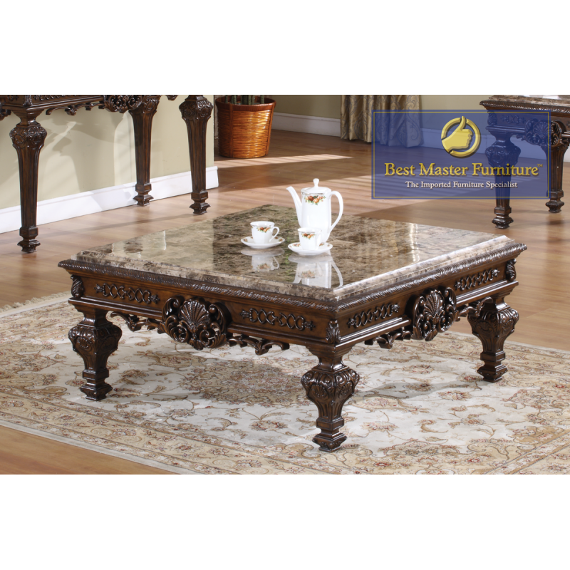 Fantastic T388 Marble Coffee Table Set Best Master Furniture Caraccident5 Cool Chair Designs And Ideas Caraccident5Info