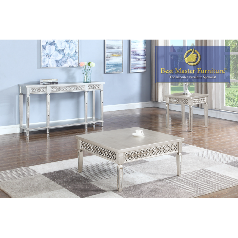 T1880 Mirrored Coffee Table Set Best Master Furniture