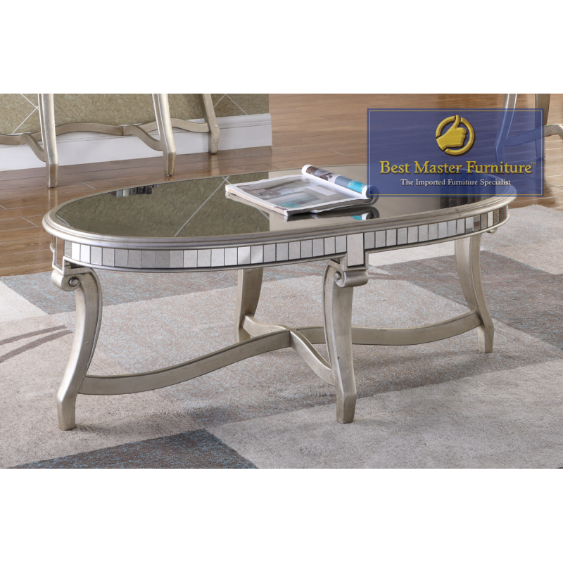 T1890 Mirrored Coffee Table Set Best Master Furniture
