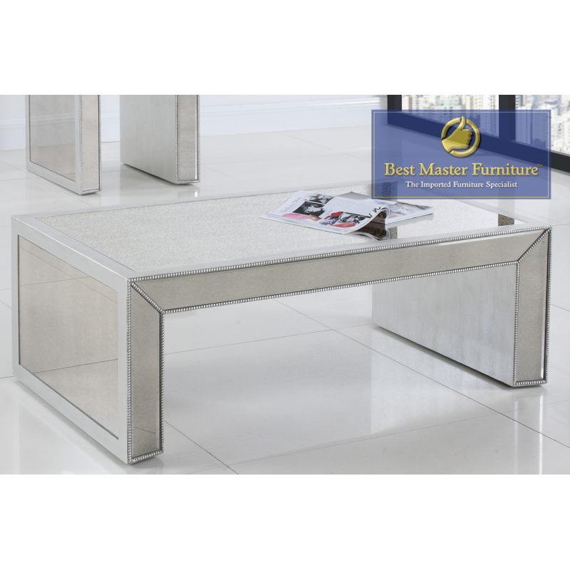 T1850 Mirrored Coffee Table Set Best Master Furniture