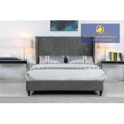 YY129 Velvet Upholstered Bed