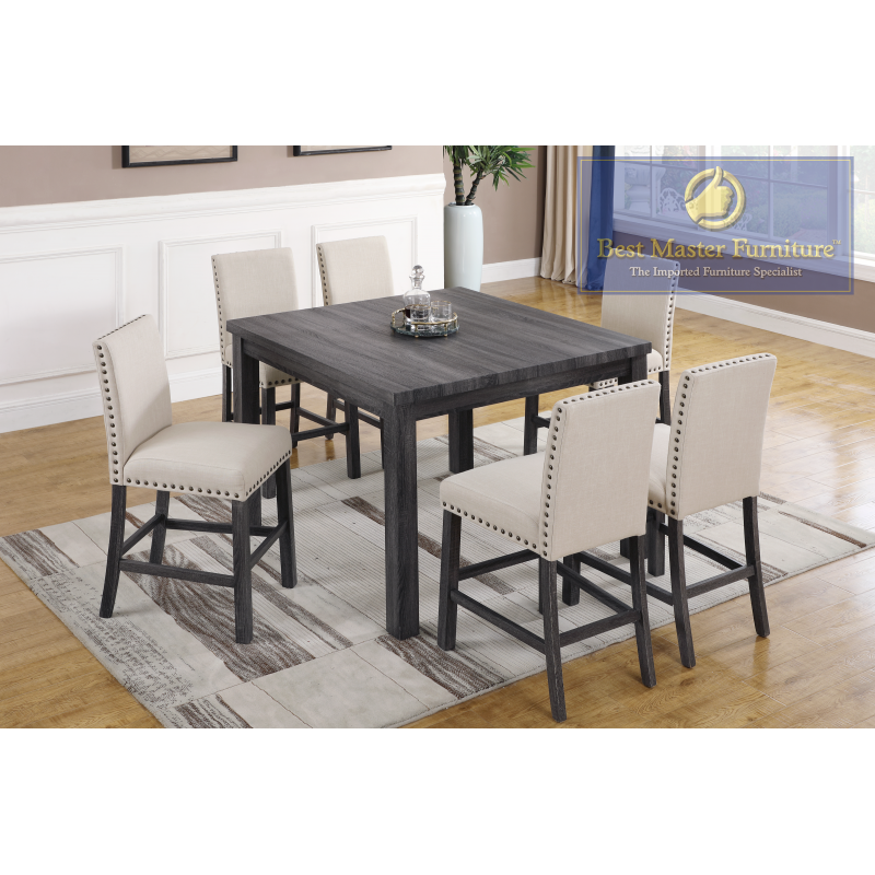 Brilliant H800 Transitional Counter Height Set Best Master Furniture Bralicious Painted Fabric Chair Ideas Braliciousco