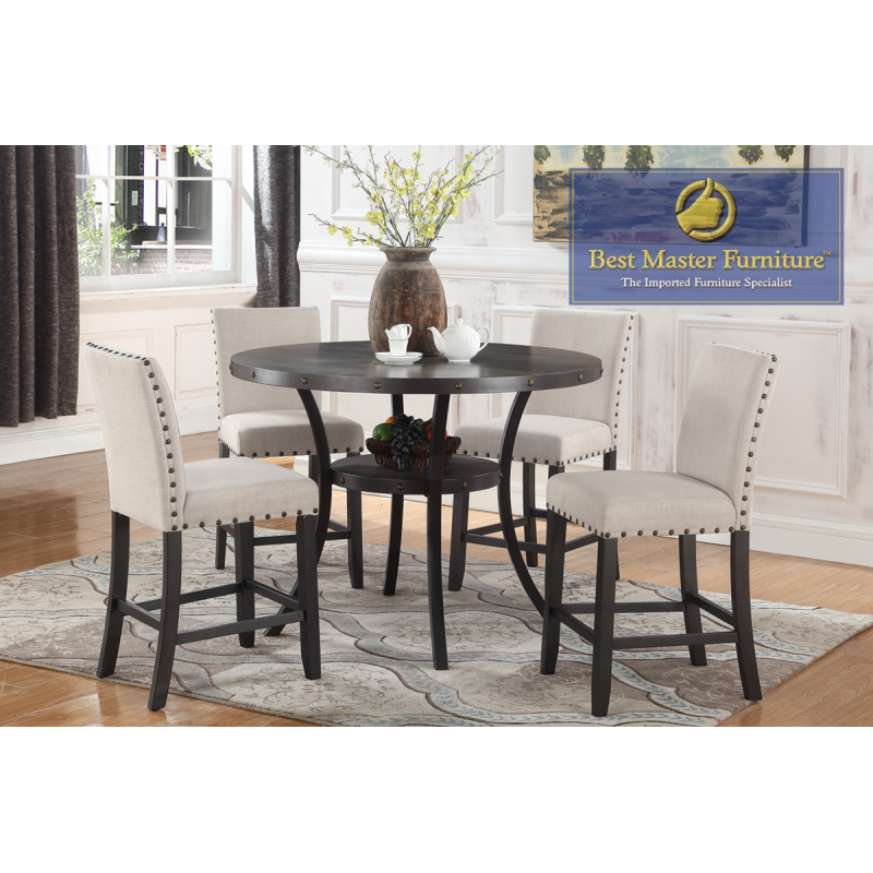 Pleasant Hx001Transitional Counter Height Set Best Master Furniture Bralicious Painted Fabric Chair Ideas Braliciousco