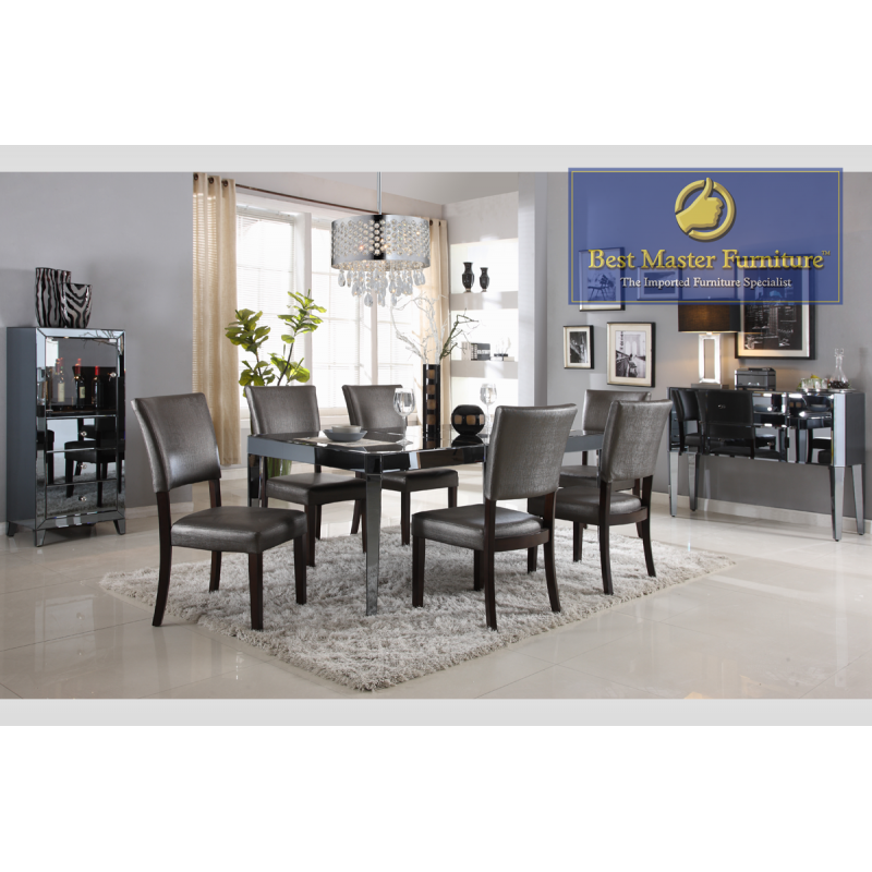 D1120 Mirrored Dining Set | Best Master Furniture