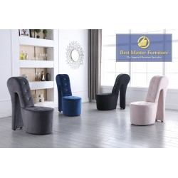 6900 Velvet Accent Chair
