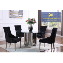 T1803 Mirrored Dining Set