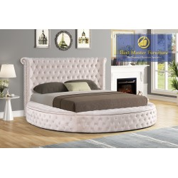 YY138 Velvet Upholstered Bed