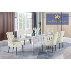 T1840 Mirrored Dining Set