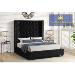 YY139 Velvet Upholstered Bed