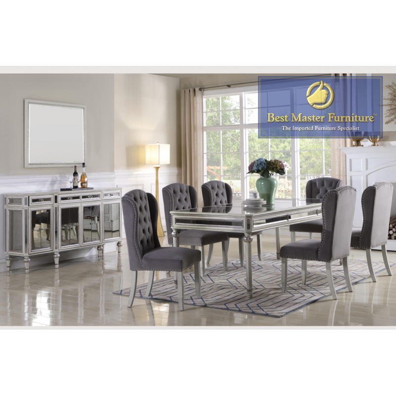 T1910 Mirrored Dining Set | Best Master Furniture