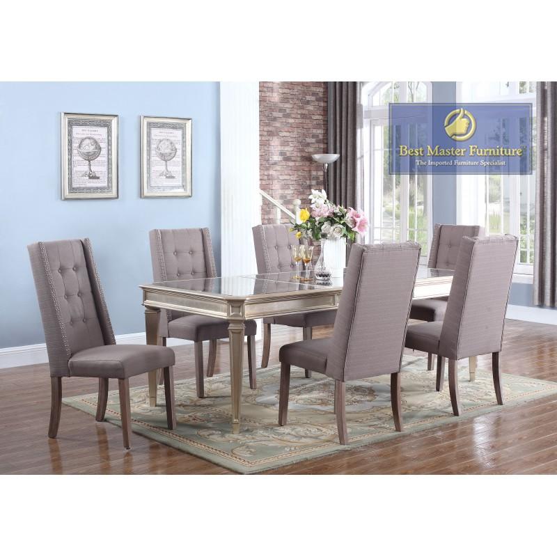 T1810 Mirrored Dining Set Best Master Furniture