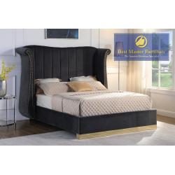 JJ022 Velvet Upholstered Bed