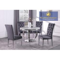LX02 Modern Round Dining Set