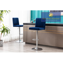 YK9175 Velvet Bar Stool