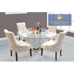 YJ001 Mirrrored Dining Set