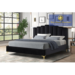 562 Velvet Upholstered Bed