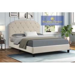YY137 Velvet Upholstered Bed
