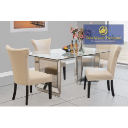 YJ002 Mirrored Dining Set