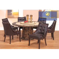 2914 Round Marble Dining Table