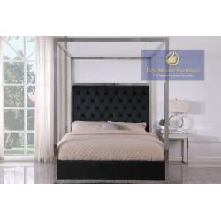 JJ026 Velvet Upholstered Bed