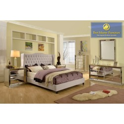 T1803 Mirrored Bedroom Set