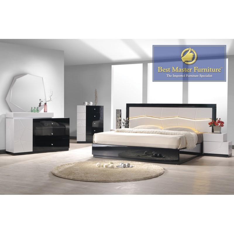Berlin Bedroom Best Master Furniture Bedroom Set 5 Drawer Chest Color Black And White