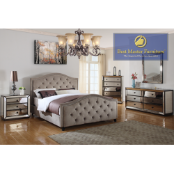 T1805 Mirrored Bedroom Set