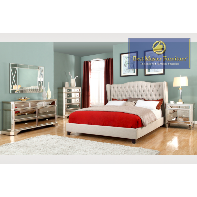 t1830 mirrored bedroom collection | best master furniture
