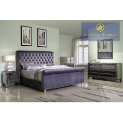 JC100 Upholstered Bed
