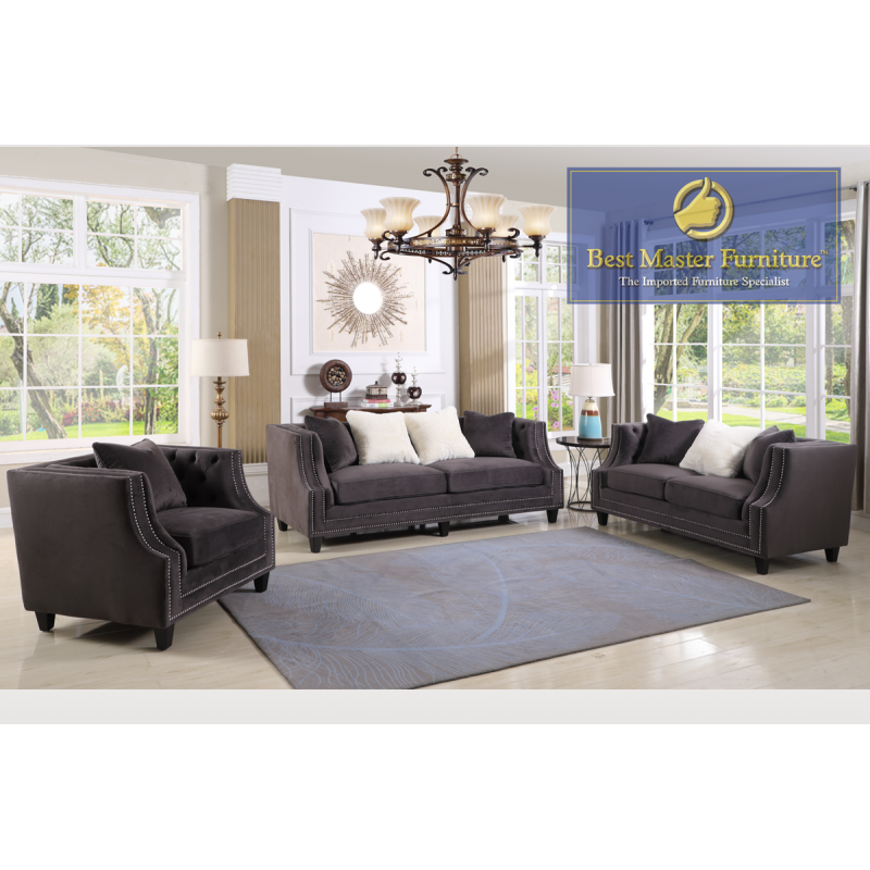 1706 Traditional Sofa Set Best Master Furniture